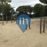 Barra per trazioni all'aperto - Lloret de Mar - Parc Turò d'en buc