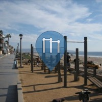 Manhatten Beach - Воркаут площадка - Калифорния