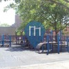 New York City  - Outdoor Fitness Spielplatz - Stockton Playground