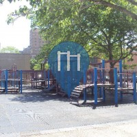New York City  - Outdoor Fitness Playground - Stockton Playground