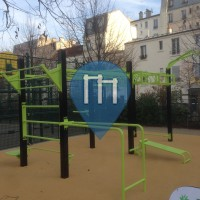 Paris 17e Arrondissement - Calisthencis Equipment - Square Boulay-Level