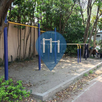 Shanghai - Outdoor Fitness Workout Station - Jingan District Workers' Stadium