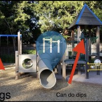 Outdoor Pull Up Bars - Danville - Workout playground Danville south park