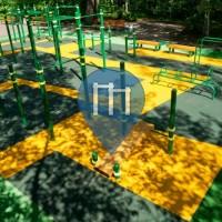 Moskau - Street Workout Park - Gorky Park