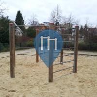 Berlin Spandau - Childrens Playground with Horizontal  Bars - Rudolf-Wissell-Siedlung