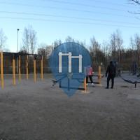 Parcours Musculation - Helsinki - Barre de traction en plein air