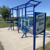 Calisthenics Stations - Cedar Falls - Outdoor Gym DISTek integration park