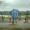 Londra - Barra per trazioni all'aperto - Neasden Brent Reservoir Outdoor Gym