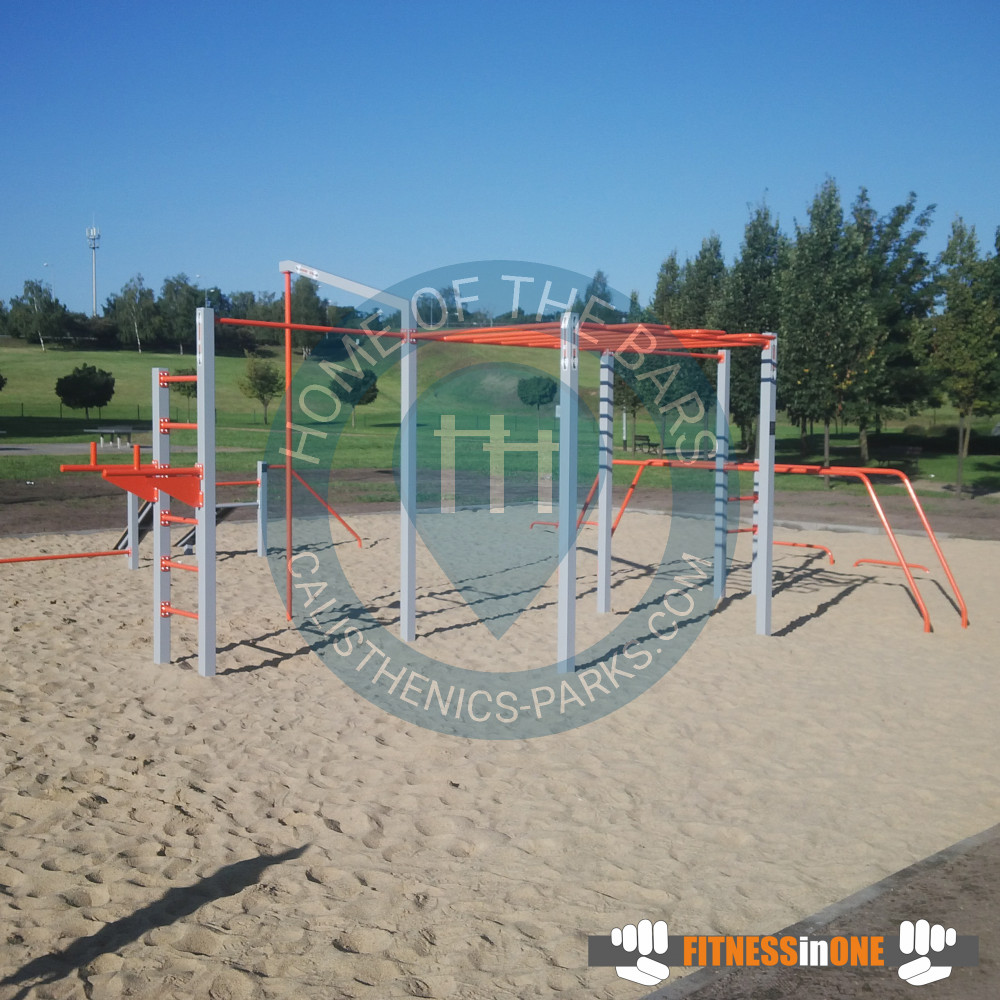 Voivodato Della Slesia Polonia lubin - parco calisthenics - lubinskie centrum rekreacji