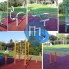 Ginásio ao ar livre - Bari - Attrezzi Kompan per calisthenics - Parco 2 Giugno