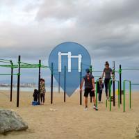 Outdoor-Fitness-Anlage - Barcelona - Calisthenics Barcelona Sand-Beach Park