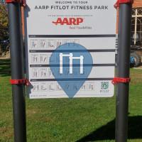 Barra per trazioni all'aperto - Newport - Aarp Fitlot Fitness Park