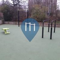 Barra per trazioni all'aperto - Parigi - Outdoor Fitness Jardin Serge Gainsbourg les Lillas