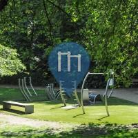 Hamburg - Trimm Dich Pfad Geräte - Außenalster