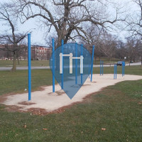 Chicago - Outdoor Fitness Station - Marquette Park and Fishing Spot