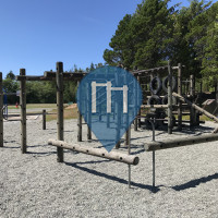 Outdoor Pull Up Bars - Outdoor Fitness Park - Ucluelet Elementary School