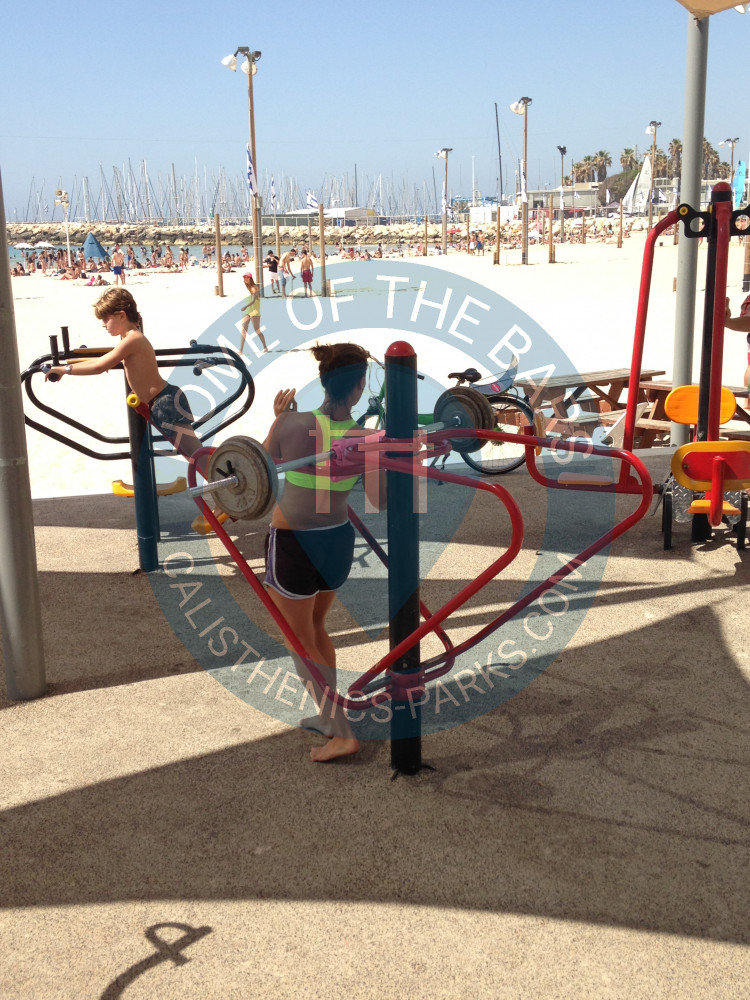 Tel aviv jaffa outdoor exercise gym at the beach