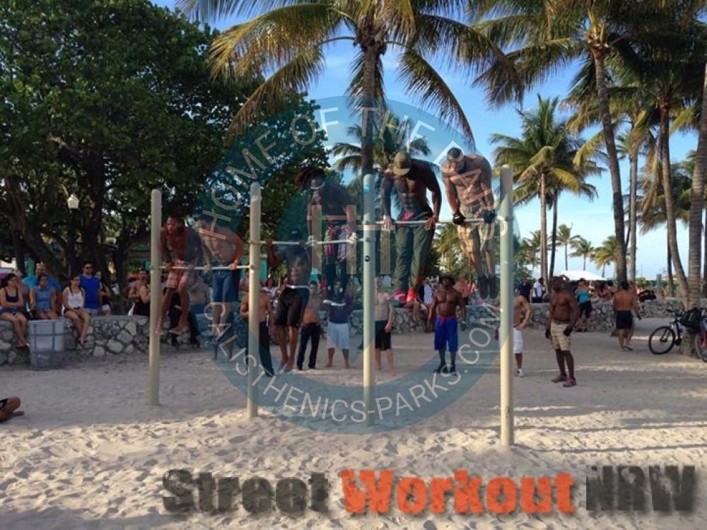 Miami Beach Parc Street Workout Lummus Park 201 Tats Unis Spot