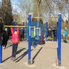 Beijing - Outdoor Fitness Area with Pull Up Bars - 玉桥南里
